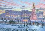 view large image and full details for Winter Lights At Buckingham Palace  M28