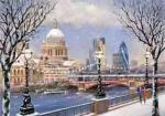 view large image and full details for St Paul's From The Thames L105