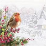 view large image and full details for Robin With Cottage L149